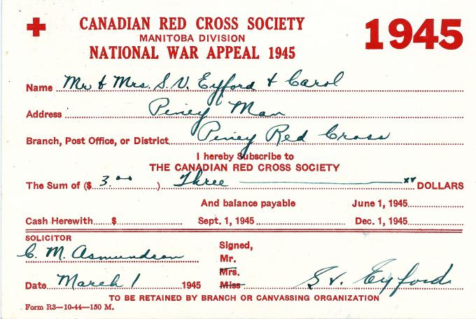 Supporting The Canadian Red Cross Society