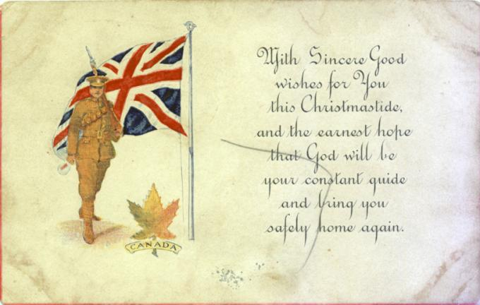 Christmas greetings from the cef wartime canada wartime canada m4hsunfo