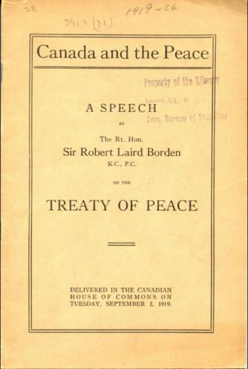 canada and the versailles treaty