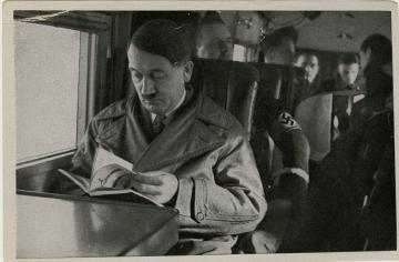 One of many Hitler collectors cards that Laidlaw found in Europe.