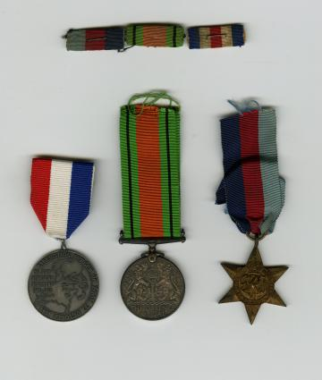 Some of Ron Laidlaw's war medals