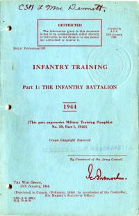 Infantry Training, Part 1: The Infantry Battalion (1944)